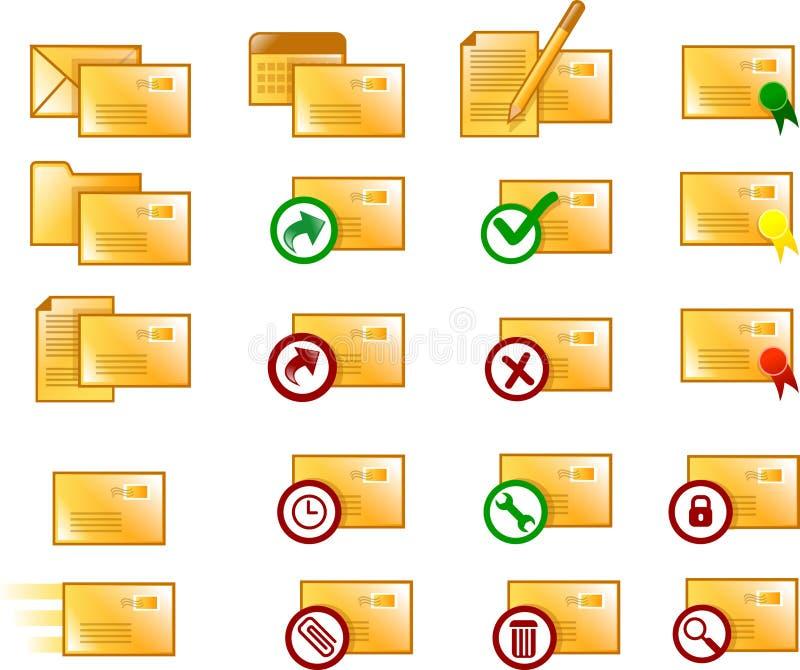 Iconos del email ilustración del vector
