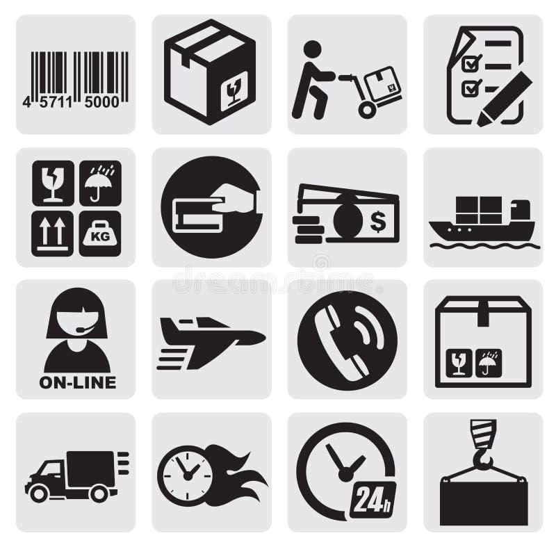 Iconos del envío ilustración del vector