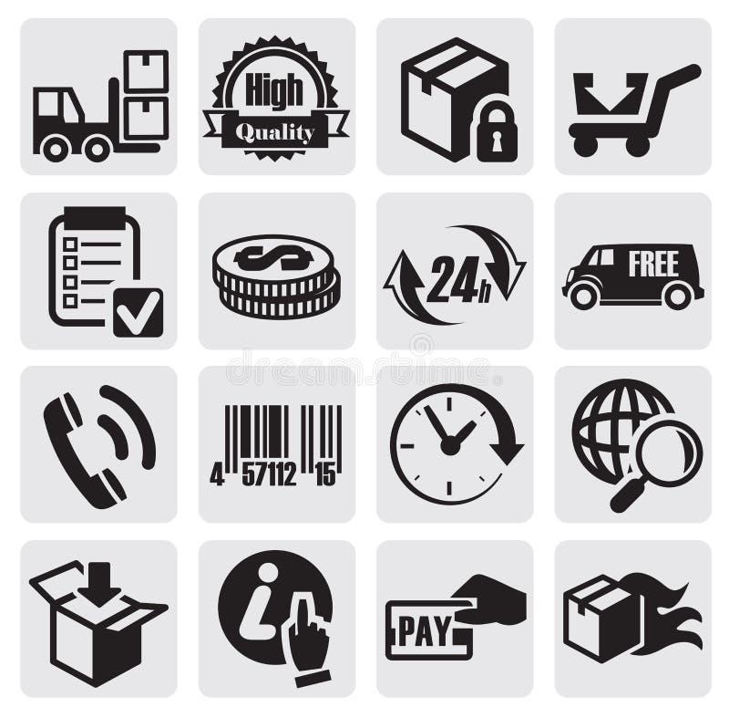 Iconos del envío stock de ilustración