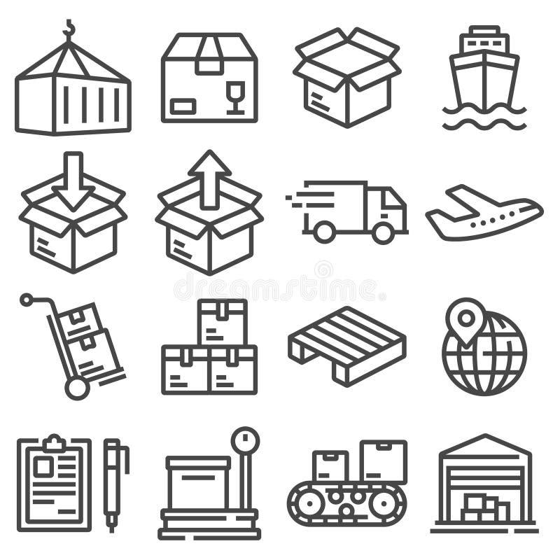 Iconos del envío para la compañía logística libre illustration