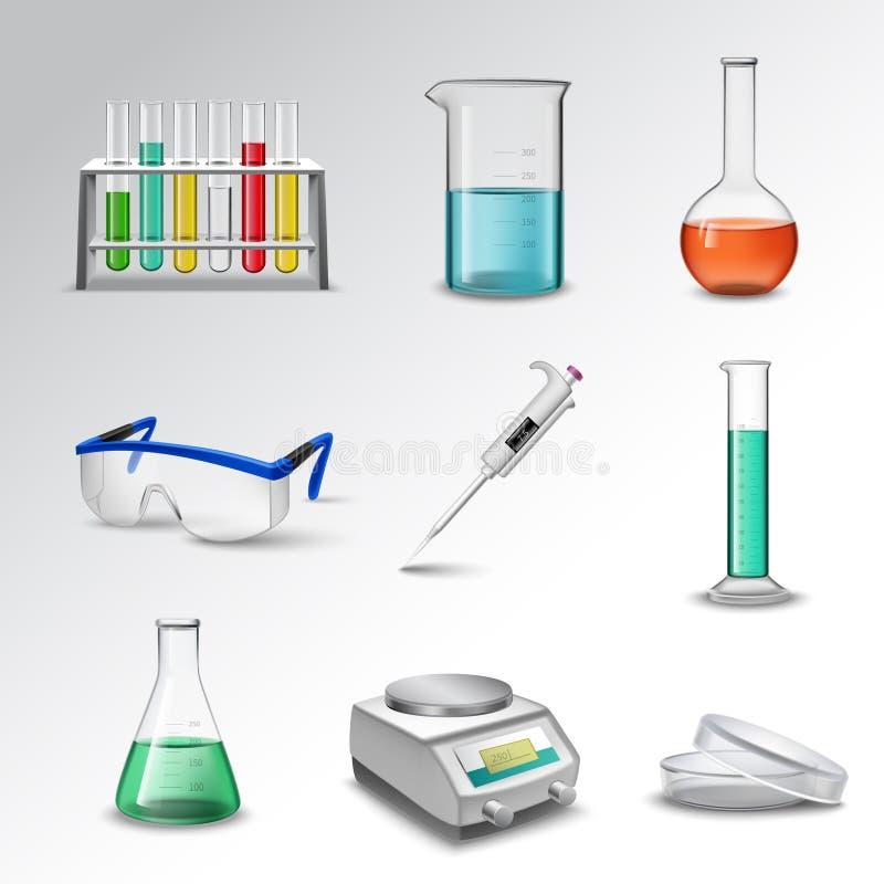 Iconos del equipo de laboratorio libre illustration