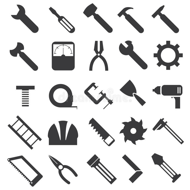 Iconos del equipo mecánico fijados libre illustration