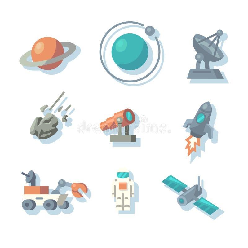 Iconos del espacio stock de ilustración