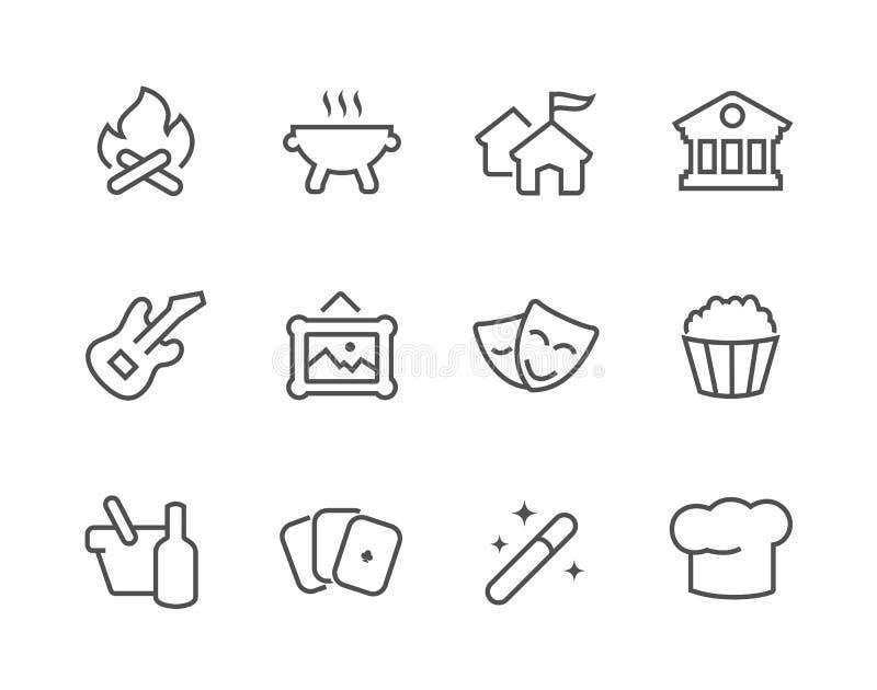 Iconos del evento del esquema ilustración del vector