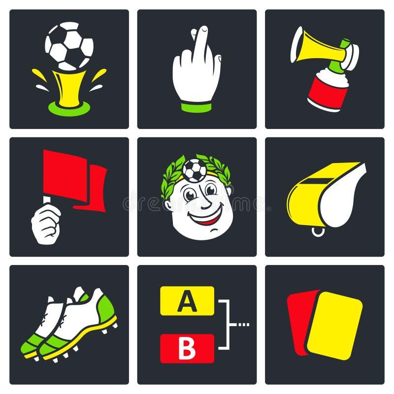 Iconos del fútbol fijados libre illustration