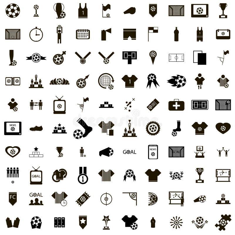 100 iconos del fútbol fijados libre illustration
