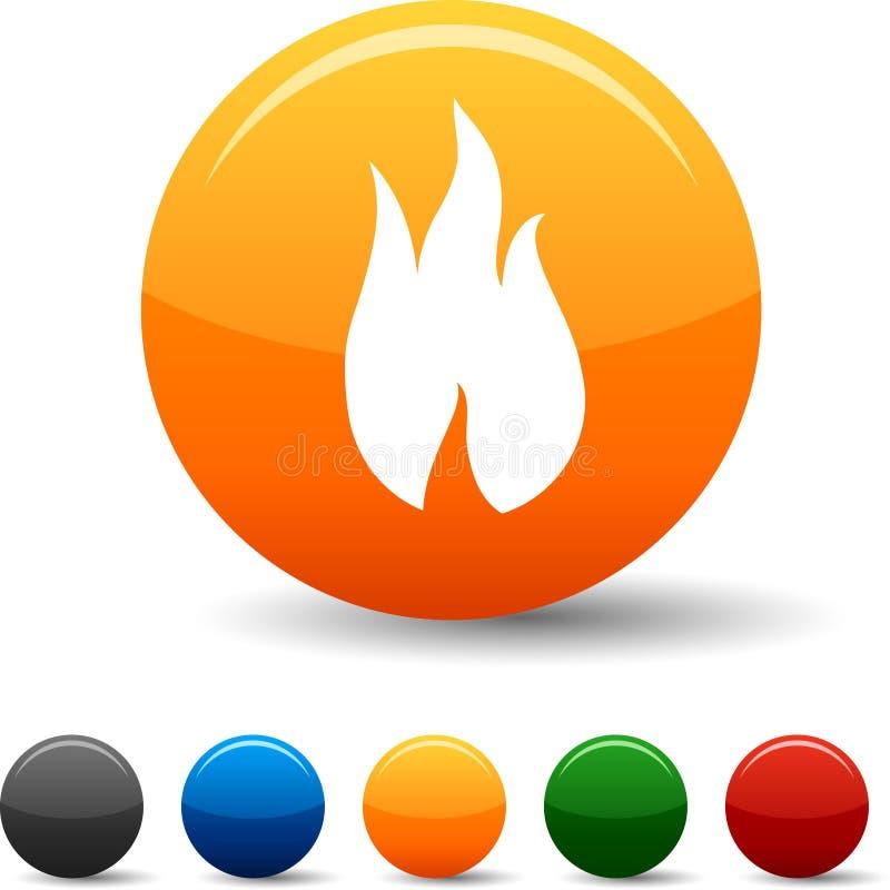 Iconos del fuego. ilustración del vector