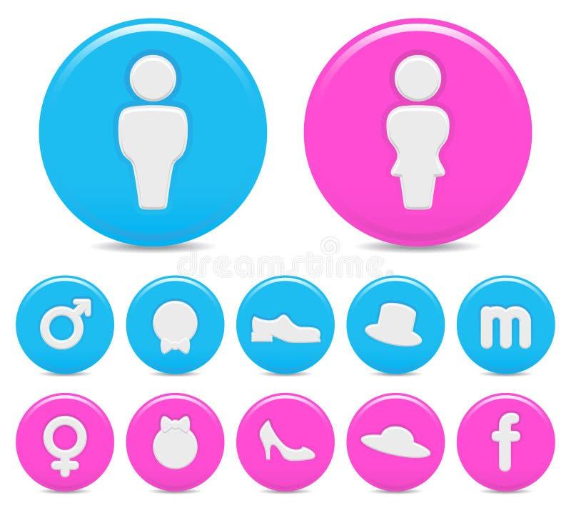 Iconos del género ilustración del vector