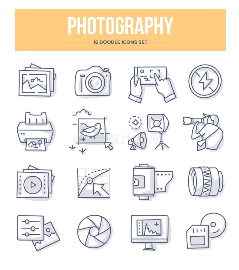 Iconos del garabato de la fotografía libre illustration