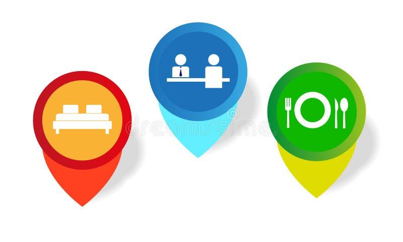 Iconos del gráfico de la información libre illustration