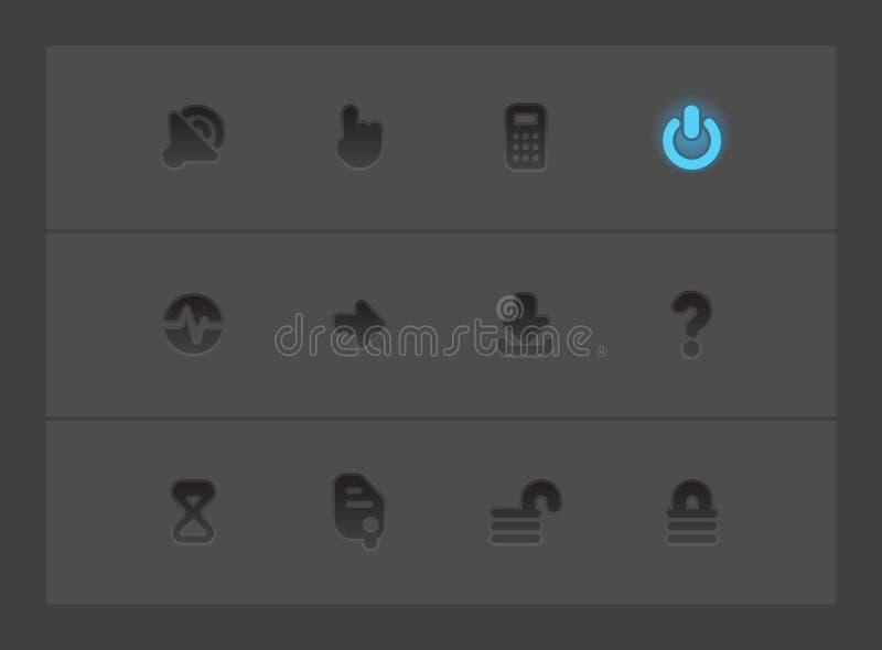 Iconos del interfaz ilustración del vector
