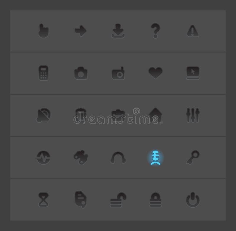 Iconos del interfaz stock de ilustración