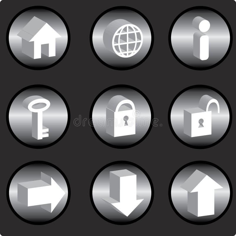 Iconos del Internet ilustración del vector