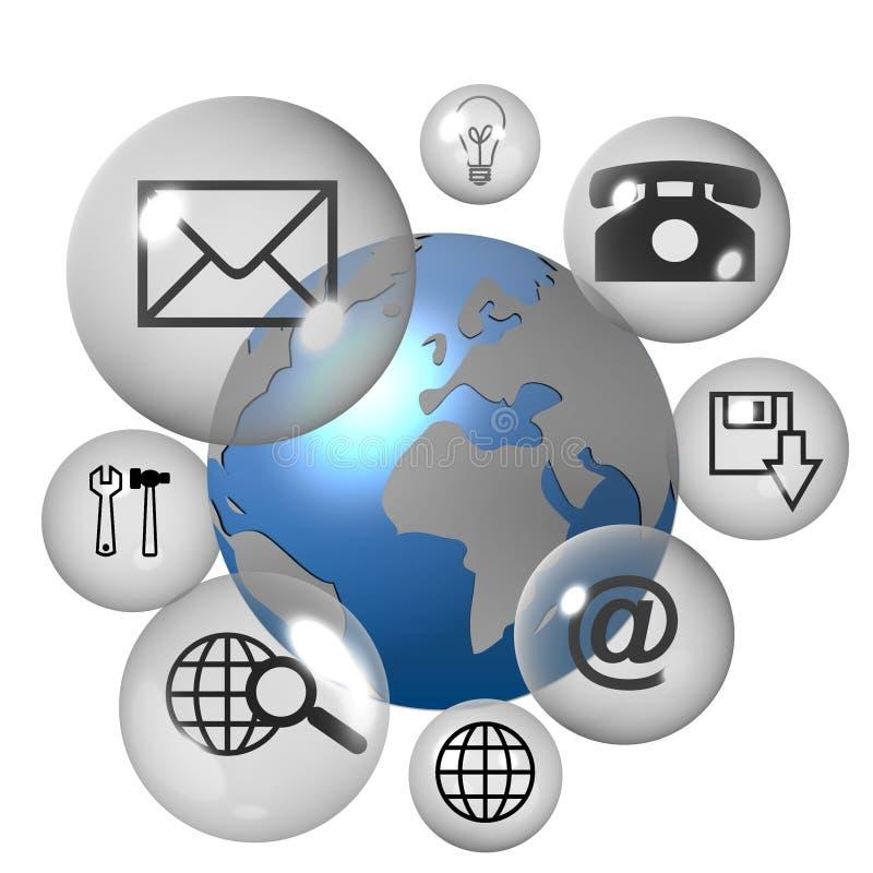 Iconos del Internet stock de ilustración