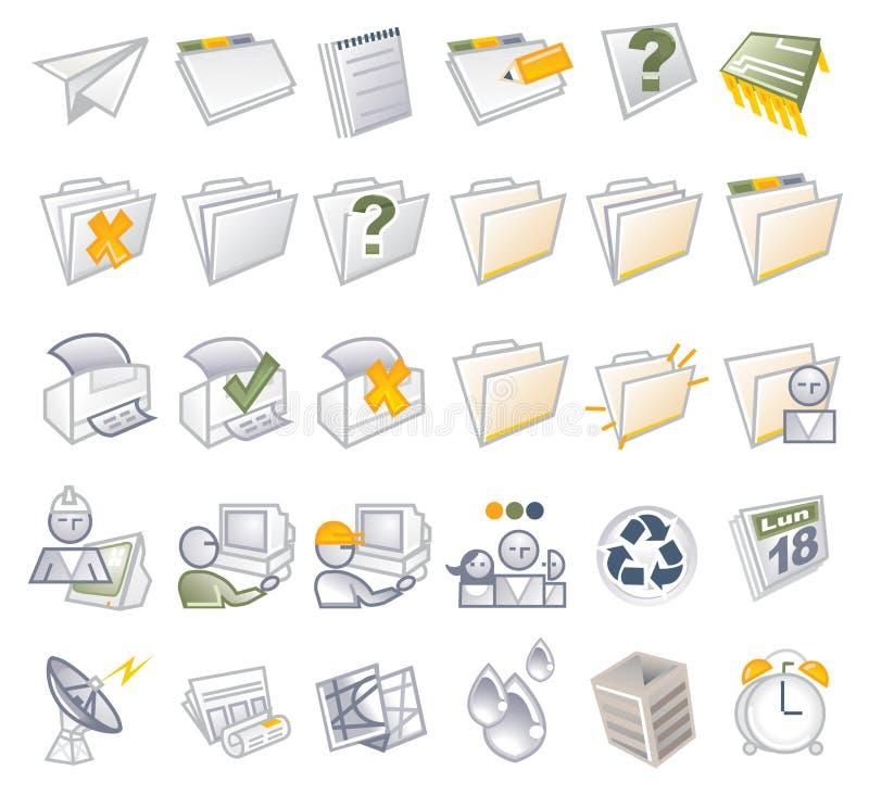 Iconos del Internet - carpetas y media libre illustration