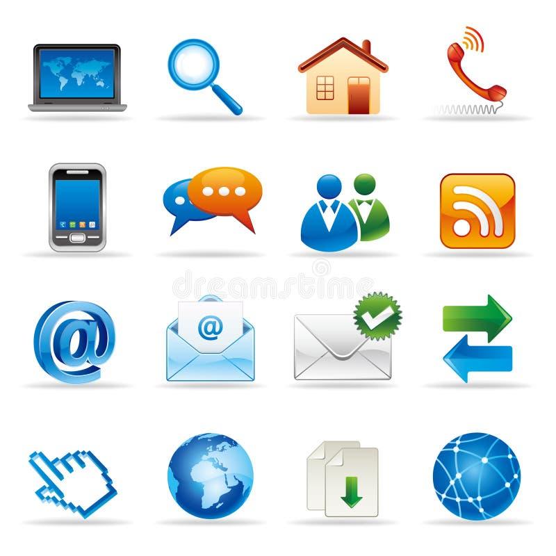 iconos del Internet y del Web site
