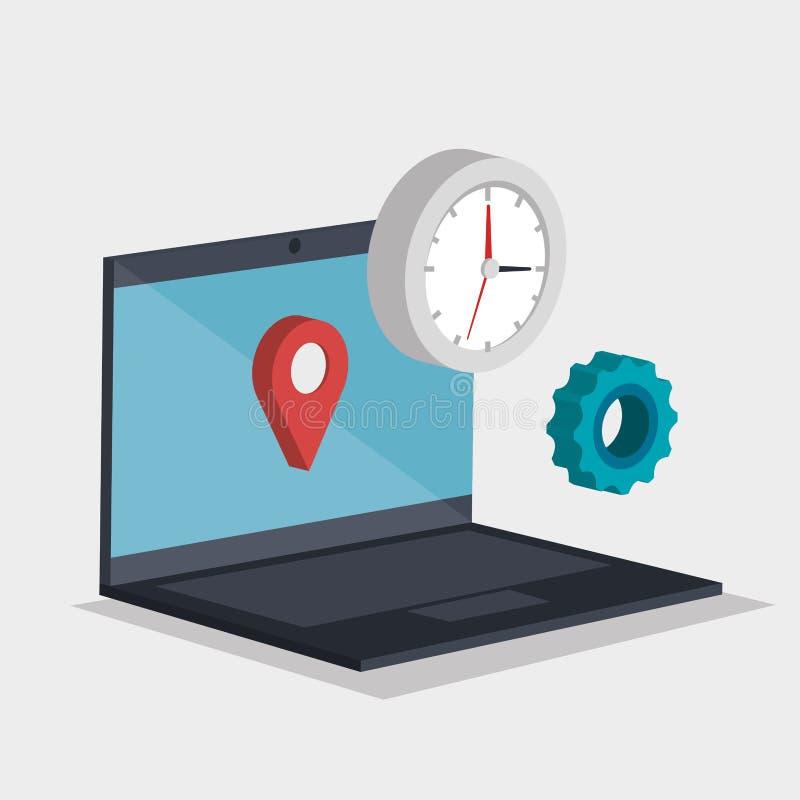 Iconos del isometrics del comercio electrónico libre illustration