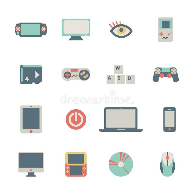 Iconos del juego stock de ilustración