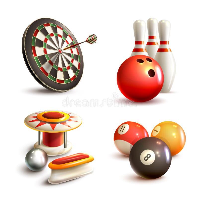 Iconos del juego fijados stock de ilustración