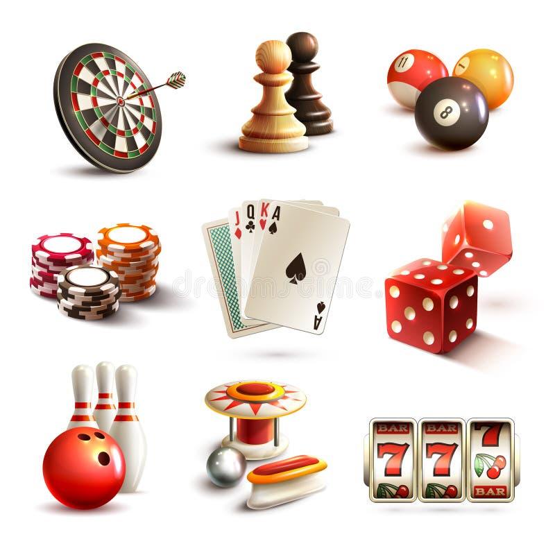 Iconos del juego fijados ilustración del vector