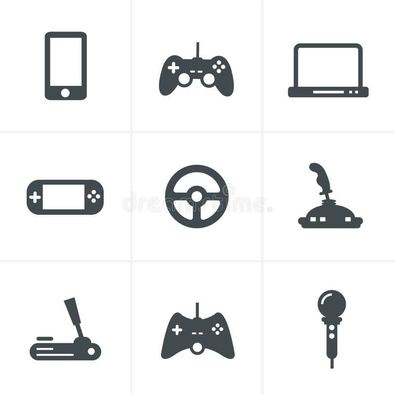 Iconos del juego: sistema de muestras del artilugio ilustración del vector