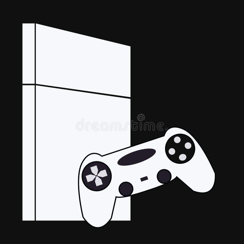 Iconos del juego Sistema del vector de muestras del artilugio Icono de la palanca de mando stock de ilustración
