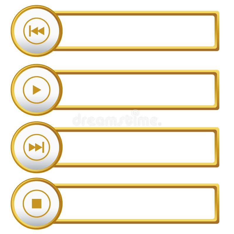 Iconos del jugador fijados ilustración del vector