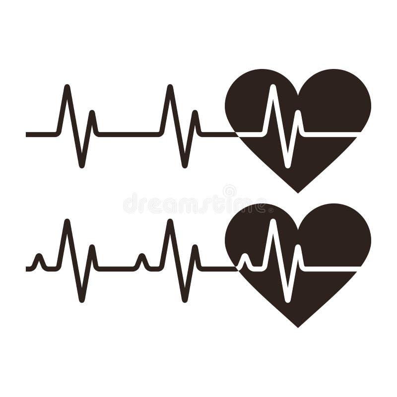Iconos del latido del corazón libre illustration