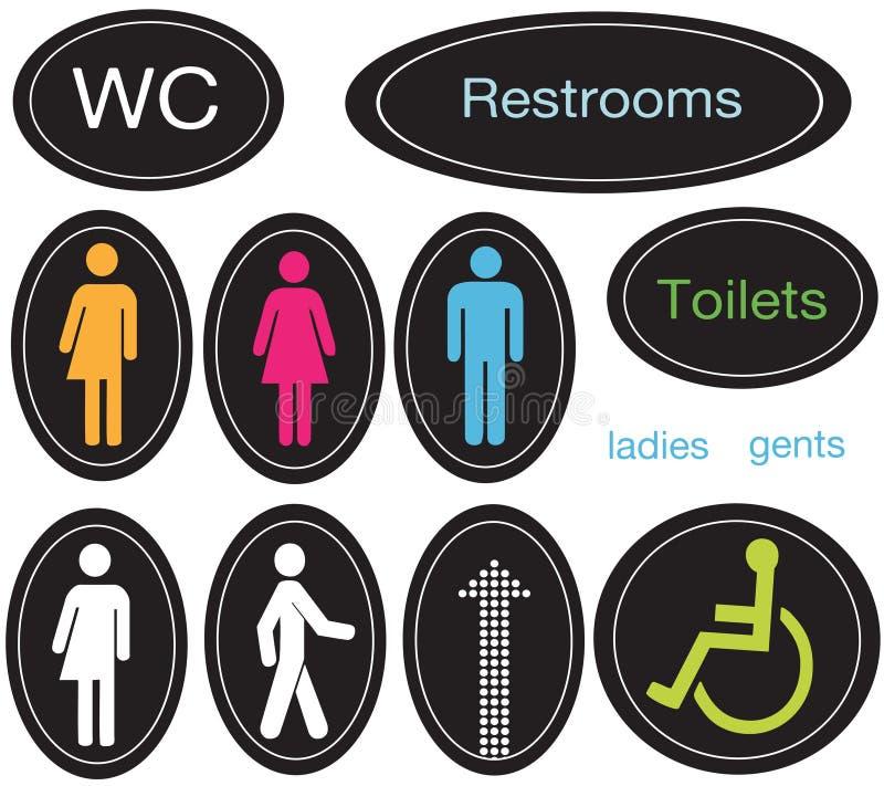 Iconos del lavabo stock de ilustración