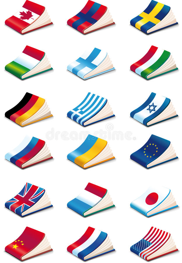 Iconos del lenguaje stock de ilustración