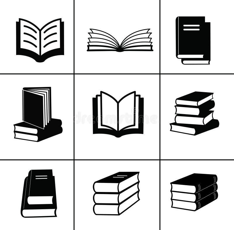 Iconos del libro fijados. libre illustration