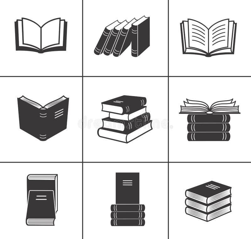 Iconos del libro fijados. ilustración del vector