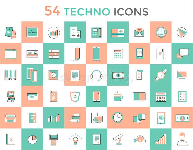 Iconos del logotipo del vector del negocio fijados Objetos, techno libre illustration