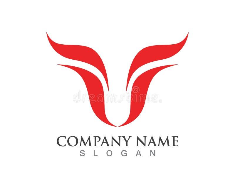 Iconos del logotipo y de la plantilla del cuerno de Bull libre illustration