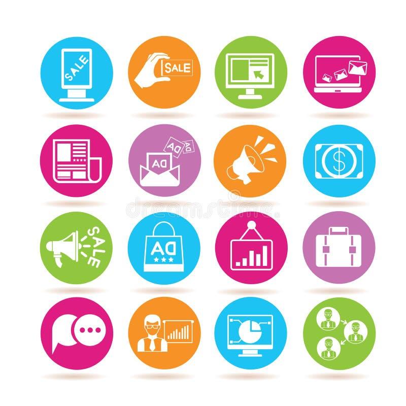 iconos del márketing ilustración del vector