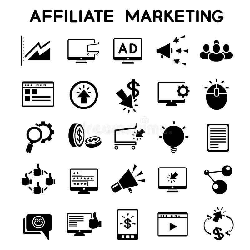 Iconos del márketing del afiliado libre illustration