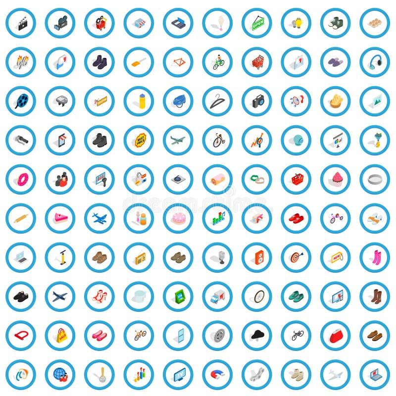 100 iconos del m?rketing de Internet fijados libre illustration