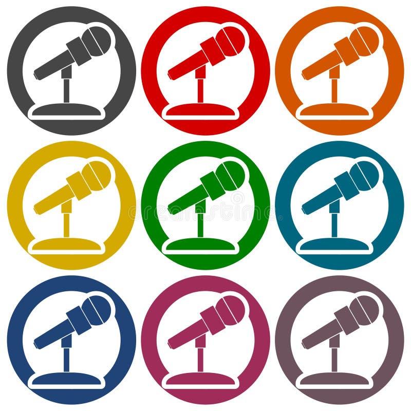 Iconos del micrófono fijados libre illustration