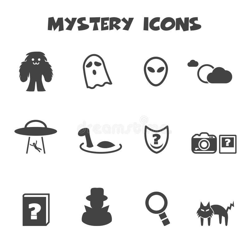 Iconos del misterio stock de ilustración
