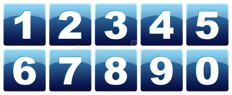 Iconos del número stock de ilustración