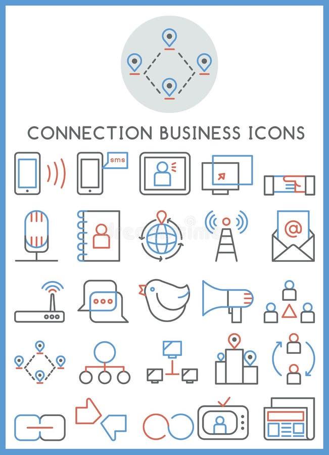 Iconos del negocio de la conexión fijados libre illustration
