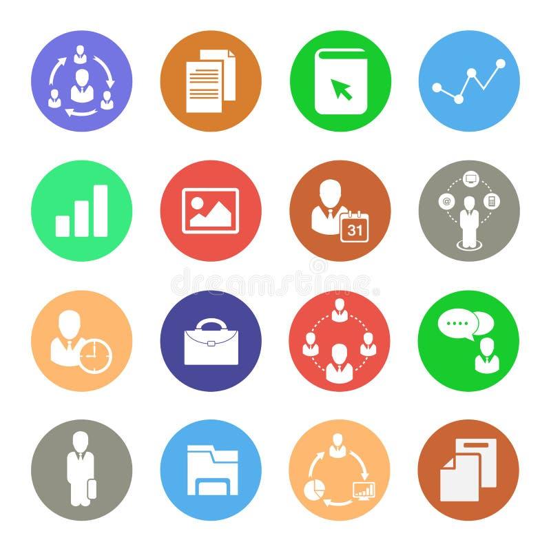 Iconos del negocio, iconos del web fijados fotos de archivo