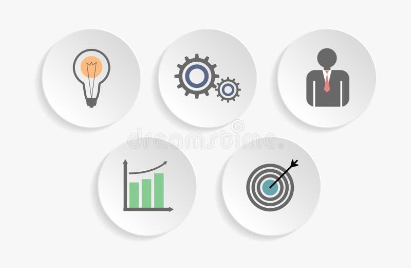 Iconos del negocio para infographic stock de ilustración