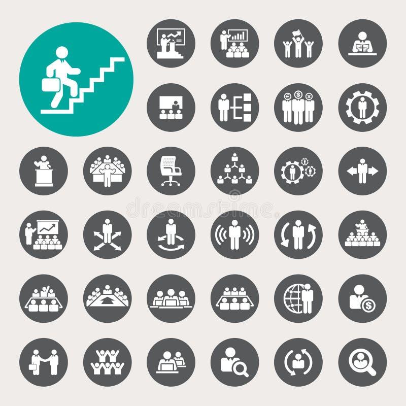 Iconos del negocio y de la gestión fijados libre illustration