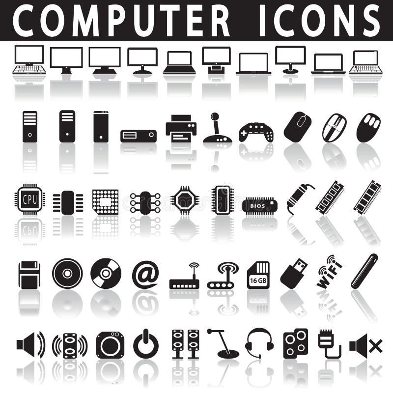 Iconos del ordenador stock de ilustración