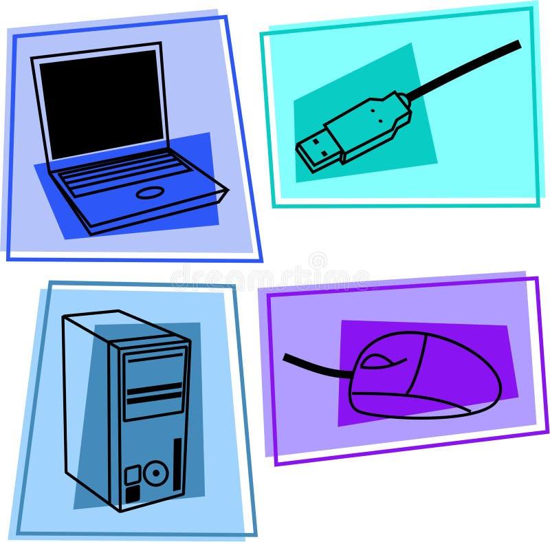 Iconos del ordenador ilustración del vector