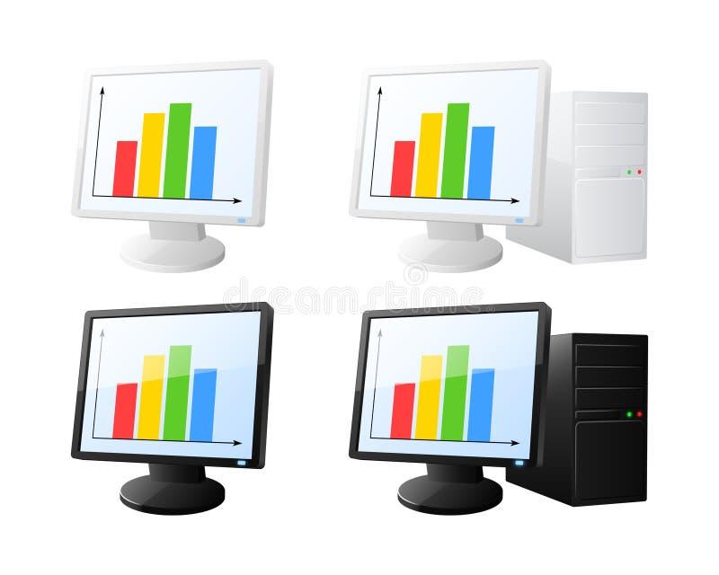 Iconos del ordenador del diagrama libre illustration