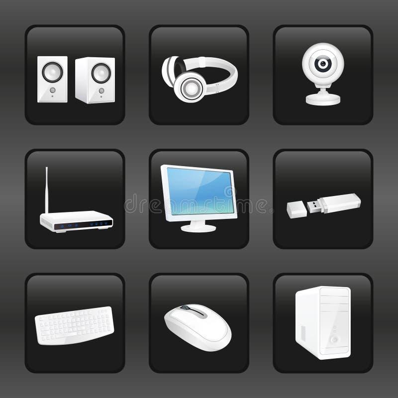 Iconos del ordenador y de los accesorios libre illustration