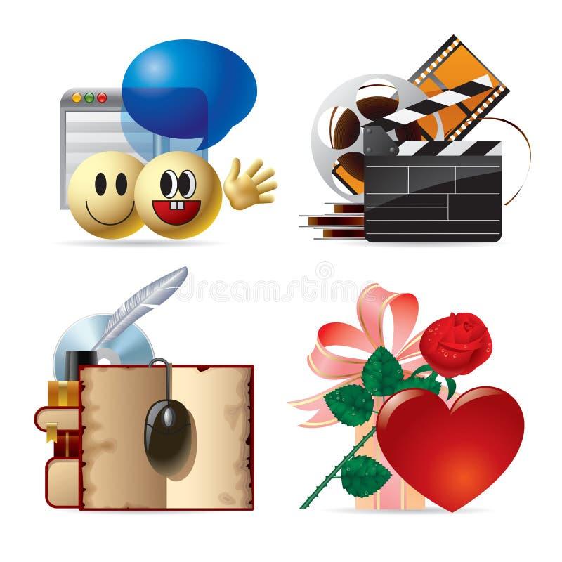 Iconos del ordenador y del Web IV ilustración del vector