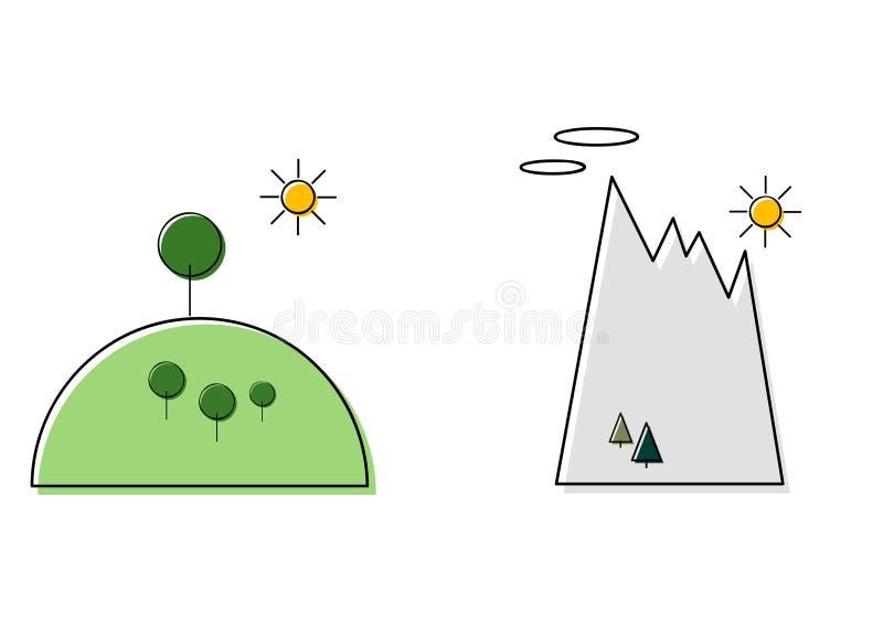 Iconos del paisaje libre illustration